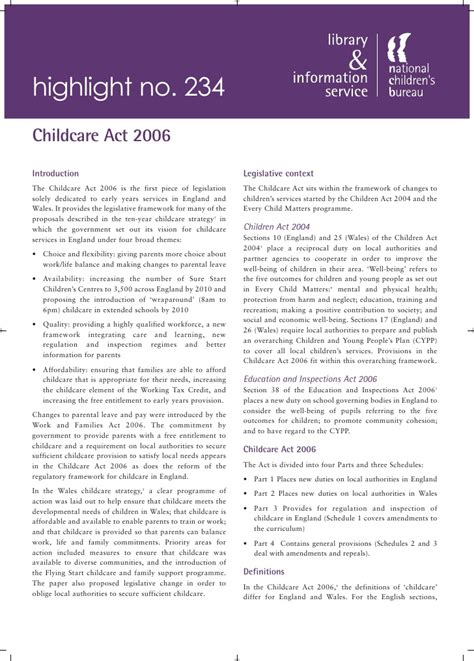 childcare act