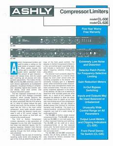 Compressor  Limiter Cl-52 Manuals
