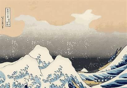 Japan Tsunami Hokusai Earthquake Moving