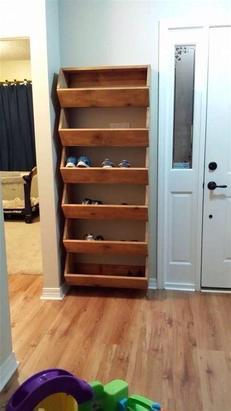 creative diy shoe rack    pallet cheap