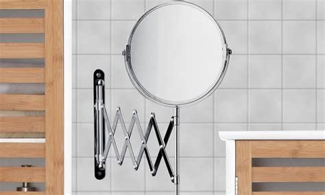 Chrome Extending Bathroom Mirror