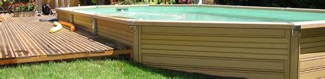 offrez vous le charme d une piscine bois composite semi enterr 233 e zodiac