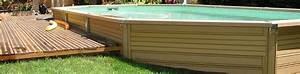Piscine Semi Enterrée Composite : offrez vous le charme d 39 une piscine bois composite semi ~ Dailycaller-alerts.com Idées de Décoration