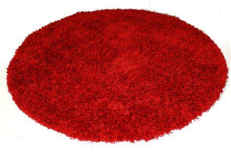tapis rond rouge spectrum trendcarpetfr