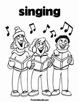 Coloring Singing Pages Singer Colouring Sing Popular Getdrawings Children Comments Coloringhome sketch template