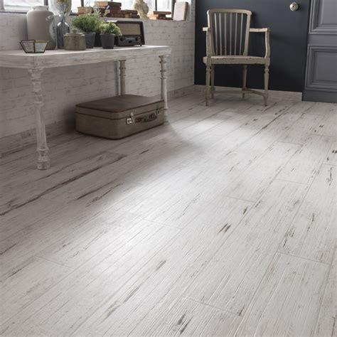 Carrelage sol et mur blanc effet bois Cabane l.15 x L.90 cm | Leroy Merlin
