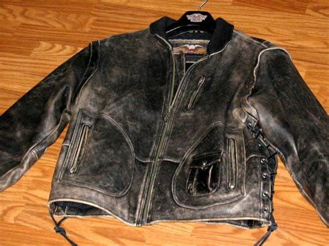 Vintage Original Harley Davidson Panhead Leather Jacket