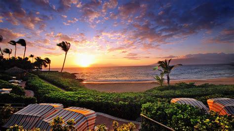 Wailea Sunset Hawaii Desktop Background 558821 ...