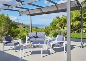 Tonnelle Pour Balcon : salon de jardin hyba alu 152 carrefour marie claire ~ Premium-room.com Idées de Décoration