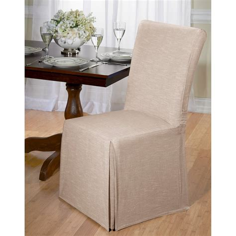 chambray dining room chair slipcover