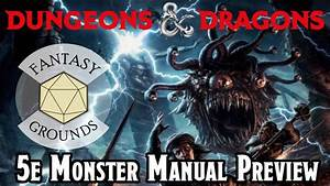 Get The D U0026d 5e Monster Manual For Your Fantasy Grounds