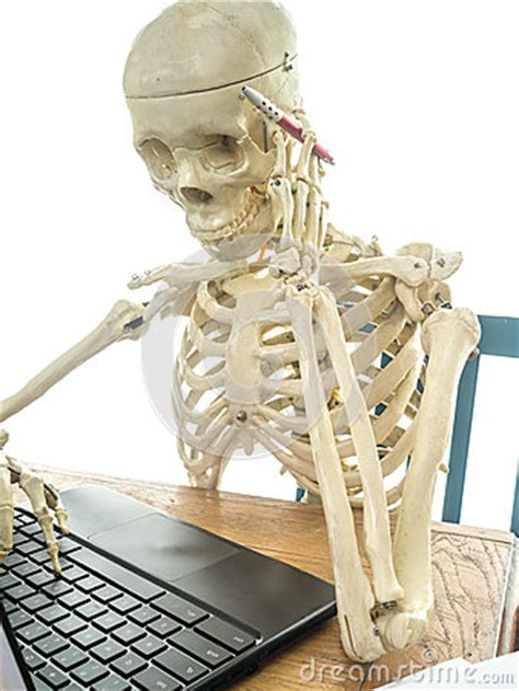 skeleton paying bills stock image image