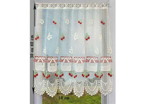 macrame rideau cuisine petit rideau cantonnière macramé petit rideau prêt à poser petit rideau à la coupe