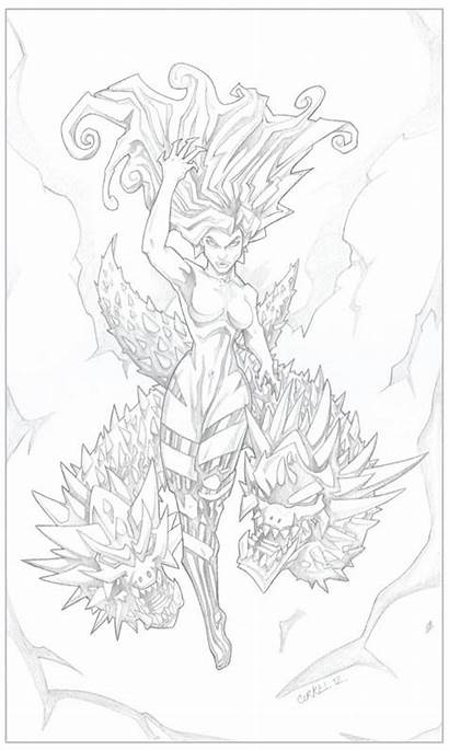 Witch Deviantart Coloring Fairy Pages Exotic Adult