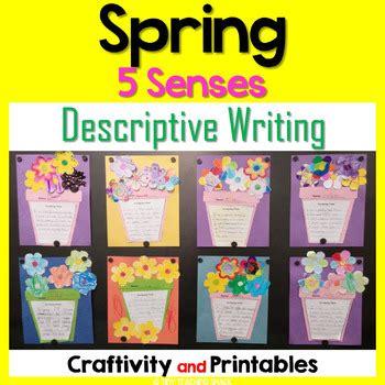 spring writing craftivity  senses descriptive writing