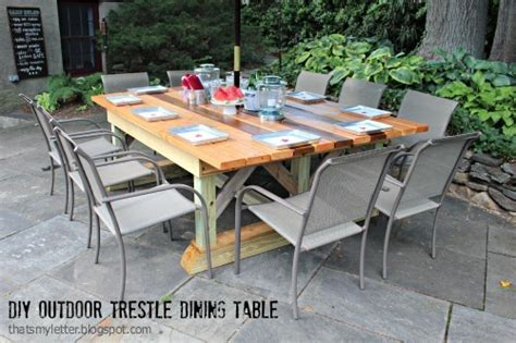 outdoor trestle dining table ryobi nation projects