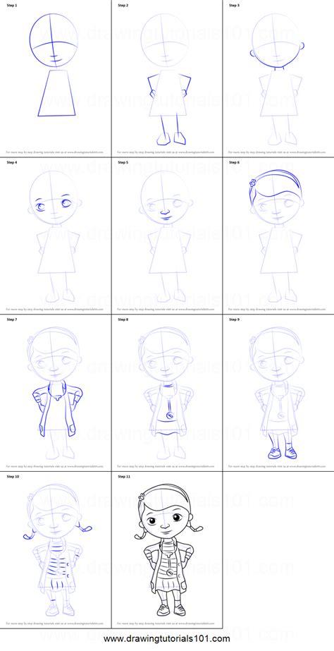 draw    mcstuffins printable step  step