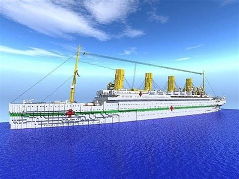 Rms Olympic Sinking Simulator by Sinking Simulator Plays Minecraft Hmhs Britannic