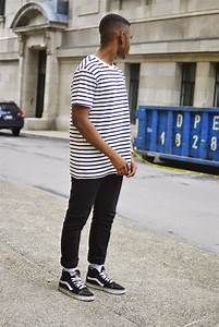 Vans Old Skool Black And White Outfit Men