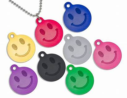 Face Smiley Necklace Round