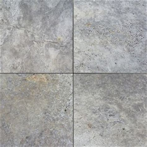 travertine silver tumbled unfilled brushed chiselled