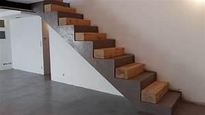 delicieux beton cire pour cuisine 2 escalier en b233ton With beton cire pour escalier exterieur