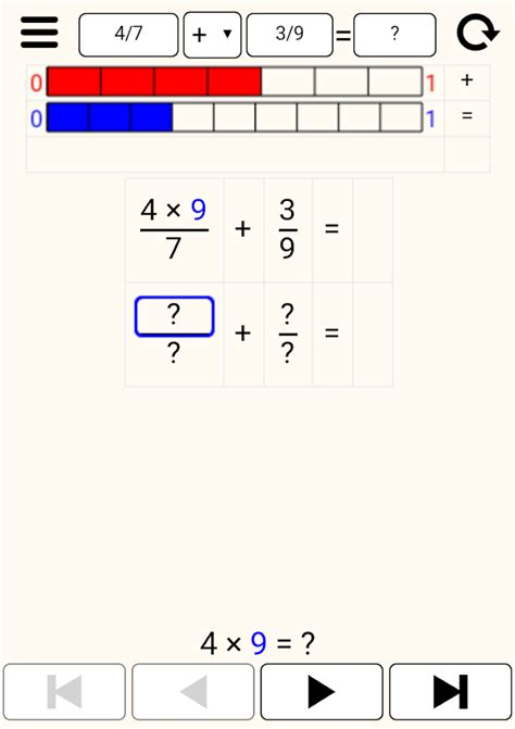Math (fractions) Step By Step  Android Apps On Google Play