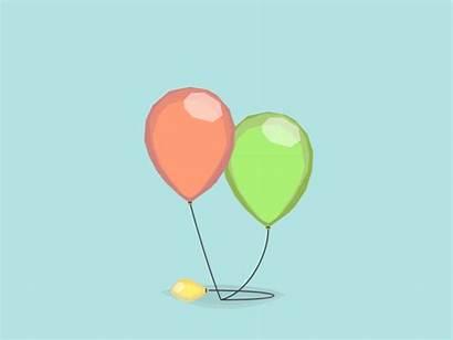 Confetti Balloon Rain Dribbble Anniversary Javascript Enabled