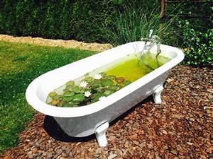 Alte Badewanne Mit Füßen : alte badewanne als mini teich ich bin dann mal im garten pinterest alte badewanne ~ Bigdaddyawards.com Haus und Dekorationen