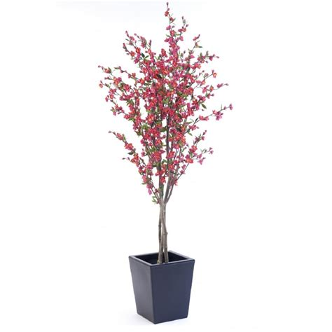 artificial palm tree pink or white artificial cherry blossom tree