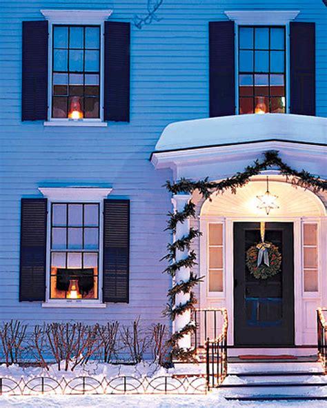 outdoor lighting winter fence martha stewart