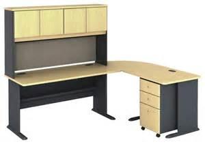 bush series a 5 piece l shape computer desk in beech