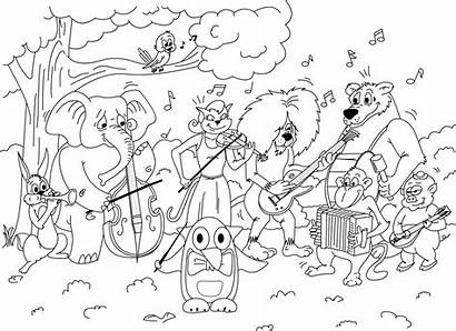 Coloring Pages Mayo Cinco Printable Mariachi Orchestra
