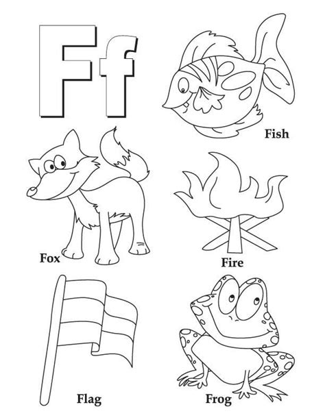 Coloring Letter F by My A To Z Coloring Book Letter F Coloring Page Pictures