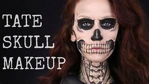 TATE LANGDON SKULL MAKEUP TUTORIAL | American Horror Story ...