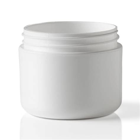 2 oz jars 2 oz round double wall white polypropylene plastic jar packaging options direct