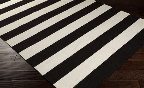 woven rugs amazon black and white striped rug