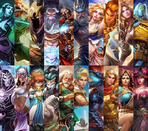 Collage of all gods in the Greek Pantheon : Smite