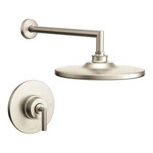 moen kitchen faucet brushed nickel shop moen arris brushed nickel 1 handle shower faucet trim kit with showerhead at lowes