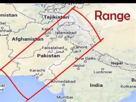 pakistan atomic missiles range to europe