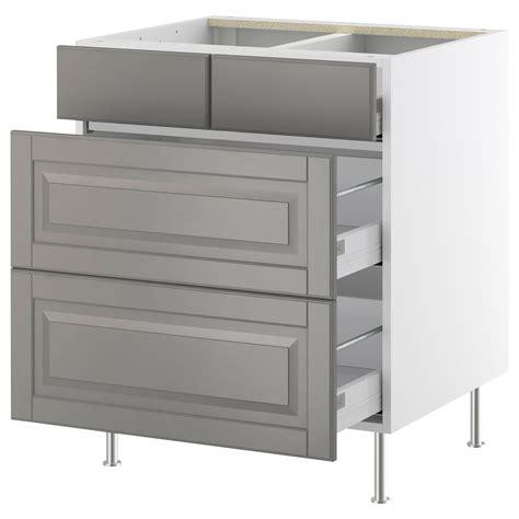 kitchen base cabinets with drawers ikea akurum base cabinet with 2 2 drawers white lidi gray