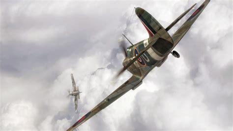 dogfight spitfire bf  aviation war ww artwork aircraft