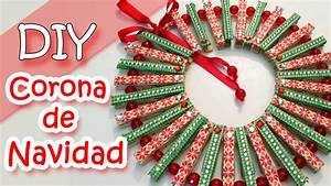 Adornos Navideos Corona De Navidad Con Pinzas De Ropa
