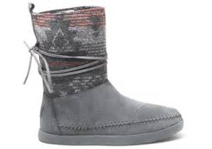 womens grey boots canada grey suede jacquard 39 s nepal boot toms
