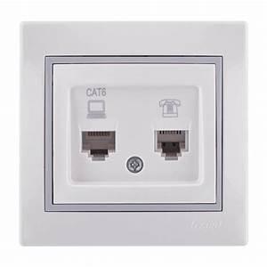 Data Numeric Telephone Socket Outlet  Rj45 Cat 6 Rj11