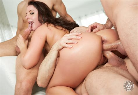 Angela White gangbang and double anal - PornHugo.Com
