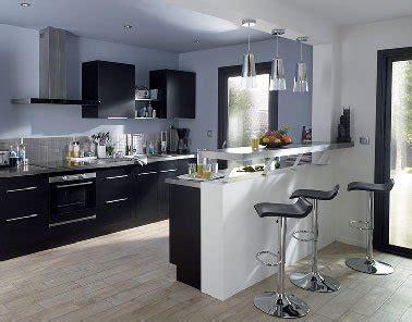 cuisine moderne noir et blanc cuisine noir avec îlot moderne noir et blanc castorama