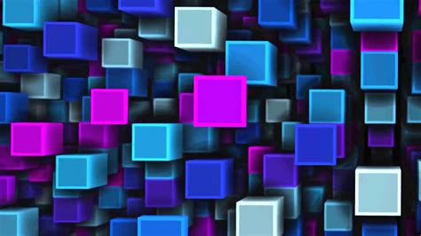 cubes background animation loop vj visuals footage
