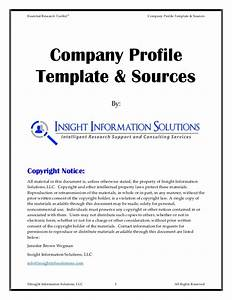 company information template company profile templates With information technology company profile template