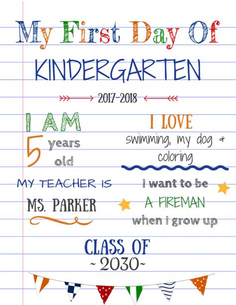 day of school sign template editable day of school signs updated version with a canva tutorial planes balloons
